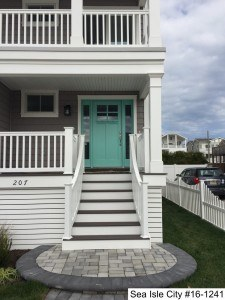 Vinyl Radius Railing Installed By Dennisville Fence In Sea Isle City, NJ