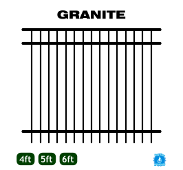 Aluminum Fence - Home Series - Granite Style image