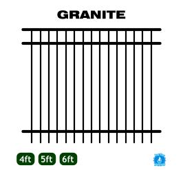 Aluminum Fence - Home Series - Granite Style image