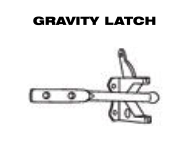 Aluminum Fence - Gate Hardware - Gravity Latch image