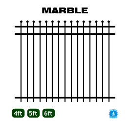 Aluminum Fence - Home Series - Marble Style image