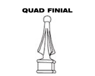 Aluminum Fence - Quad Finial Post Top image