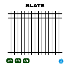 Aluminum Fence - Home Series - Slate Style image