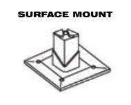 Aluminum Fence - Gate Hardware - Surface Mount image