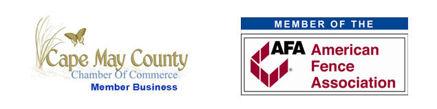 Cape May County Chamber of Commerce and The American Fence Association Member logos image