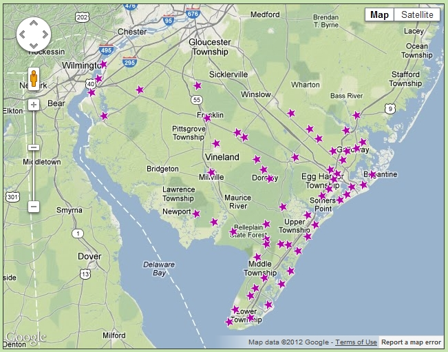 Dennisville Fence Service Locations Map in NJ image
