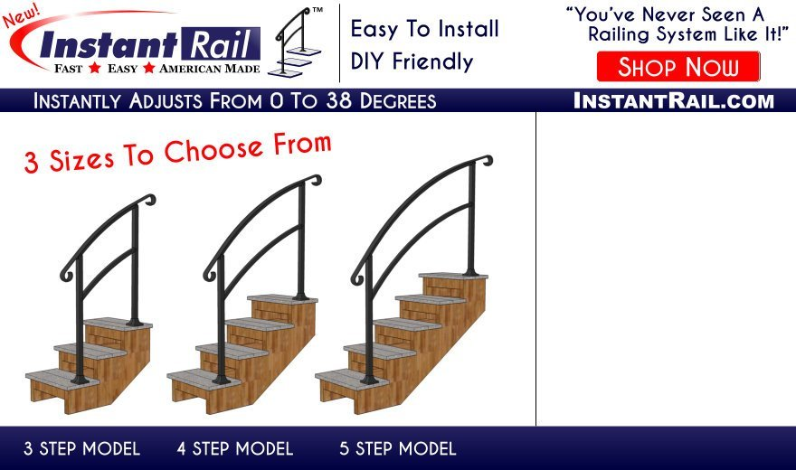 InstantRail - A Universal Aluminum Railing System That Can Instantly Adjust It's Pitch To Any Angle Up To 38 Degrees!
