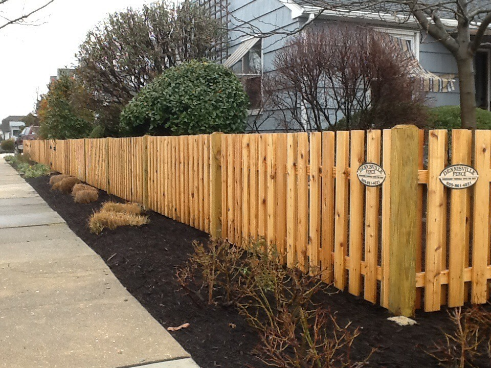 Spaced Picket Wood Fence by Dennisville Fence