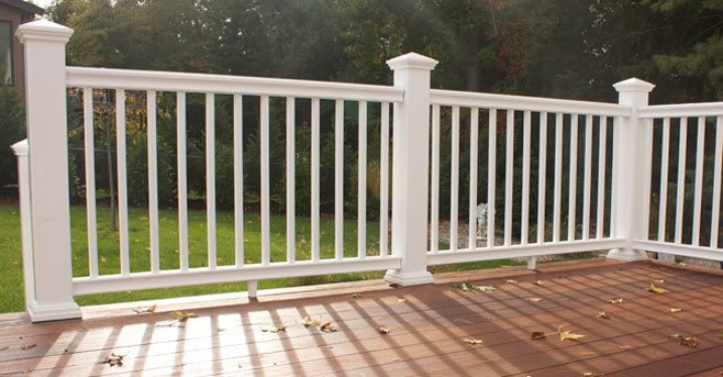 Transform railing by rdi dennisville fence for White composite decking