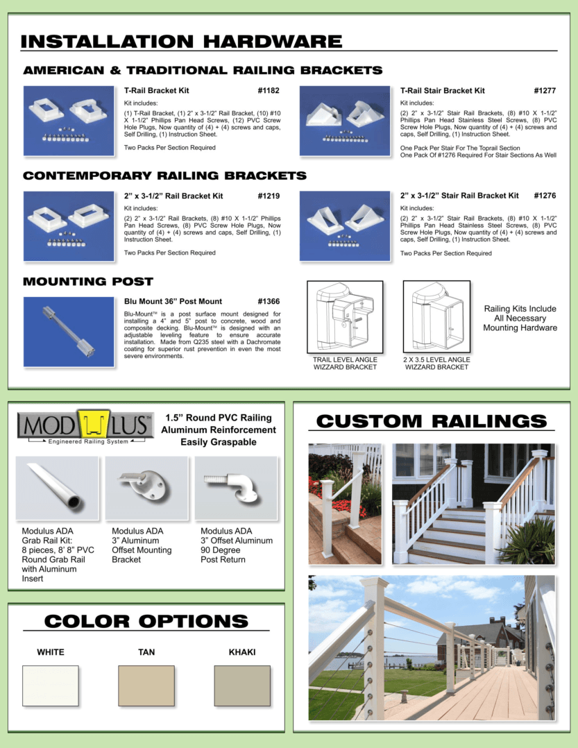 Vinyl Railing Options Dennisville Fence