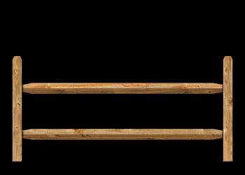 2-Rail Split Rail Wood Fence image