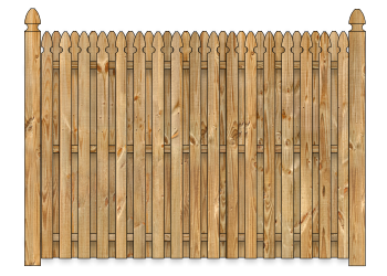 Board On Board Wood Fence - Cedar Straight Georgian W1428 - image