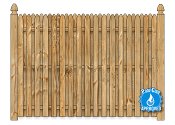 Board On Board Wood Fence - Cedar Straight Simplicity W1358 - image