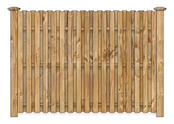 Board On Board Wood Fence - Cedar Straight Virginian W1128 - image