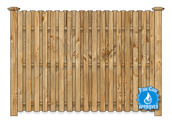 Board On Board Wood Fence - Cedar Straight Virginian W1158 - image