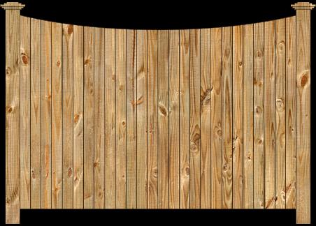Privacy Wood Fence - W210 Cedar Single Concave Virginian Wood Fence Image