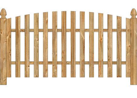 Wood Fence - Cedar Single Convex Virginian Spaced Picket Image