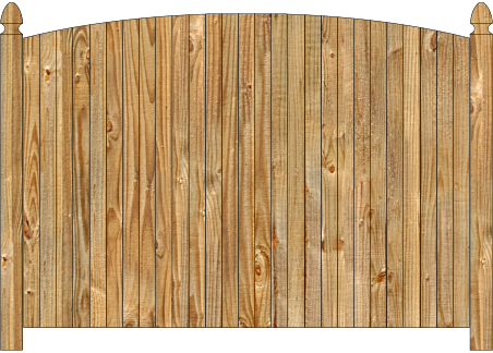 Wood fence, cedar single convex virginian privacy fence section image