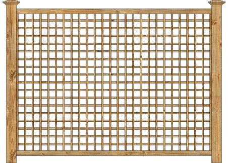 wood fence cedar square english lattice panel image