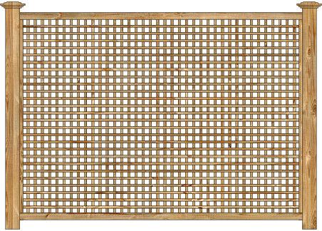 Wood Fence - Cedar Square STD Lattice Panel Image