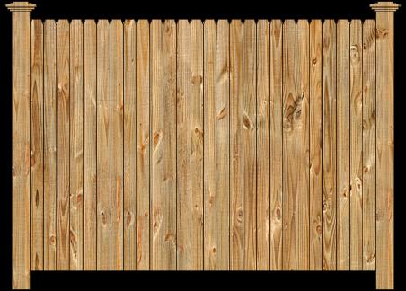 Privacy Wood Fence - W120 Cedar Straight Dog Ear Wood Fence Image