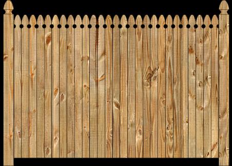 Privacy Wood Fence - W140 Cedar Straight Georgian Wood Fence Image