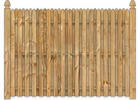 Wood Fence - Cedar Straight Simplicity Board on Board Wood Fence Image