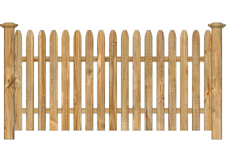 Wood Fence - Cedar Straight Simplicity Spaced Picket Image