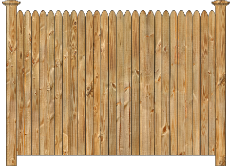 Privacy Wood Fence - W130 Cedar Straight Simplicity Wood Fence Image