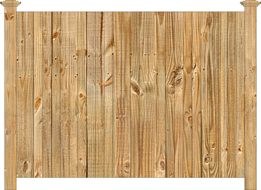 Solid Wood Privacy Fence Dennisville Fence