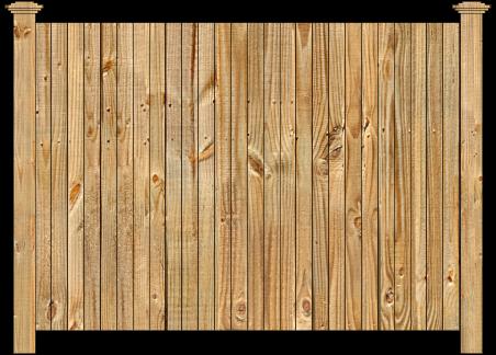 Privacy Wood Fence - W110 Cedar Straight Virginian Wood Fence Image