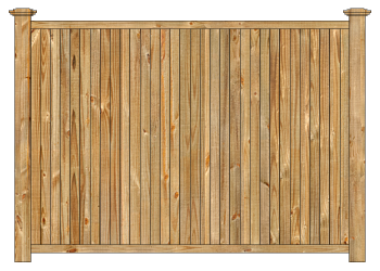 Wood fence, cedar tongue and groove privacy fence section image