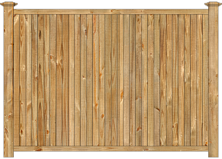 Privacy Wood Fence - W900 Cedar Tongue and Groove Wood Fence Image