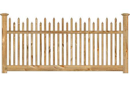 Wood Fence - Cedar Victorian Alternating Picket Image