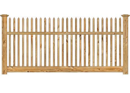 Wood Fence - Cedar Victorian Straight Picket Image