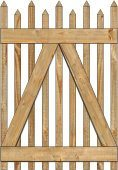 2-Rail Victorian Alternating Single Gate for Wood Fences Image