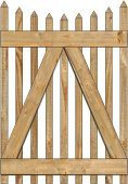 2-Rail Victorian Scalloped Single Gate for Wood Fences Image