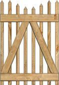 2-Rail Victorian Stepped Single Gate for Wood Fences Image