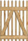 2-Rail Victorian Straight Single Gate for Wood Fences Image