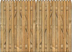 3-Rail Double Simplicity Board on Board Wood Gate for Wood Fences Image