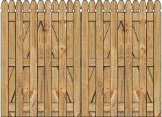 3-Rail Double Straight Georgian Board on Board Wood Gate for Wood Fences Image