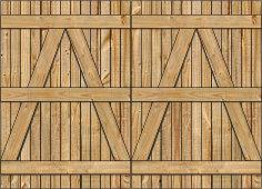 3-Rail Double Wood Gate for Wood Fences Image