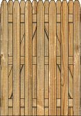 3-Rail Single Simplicity Board on Board Wood Gate for Wood Fences Image