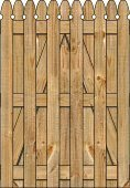 3-Rail Single Straight Georgian Board on Board Wood Gate for Wood Fences Image