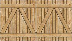 2-Rail Double Wood Gate for Wood Fences Image