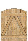 2-Rail Single Wood Gate for Wood Fences Image