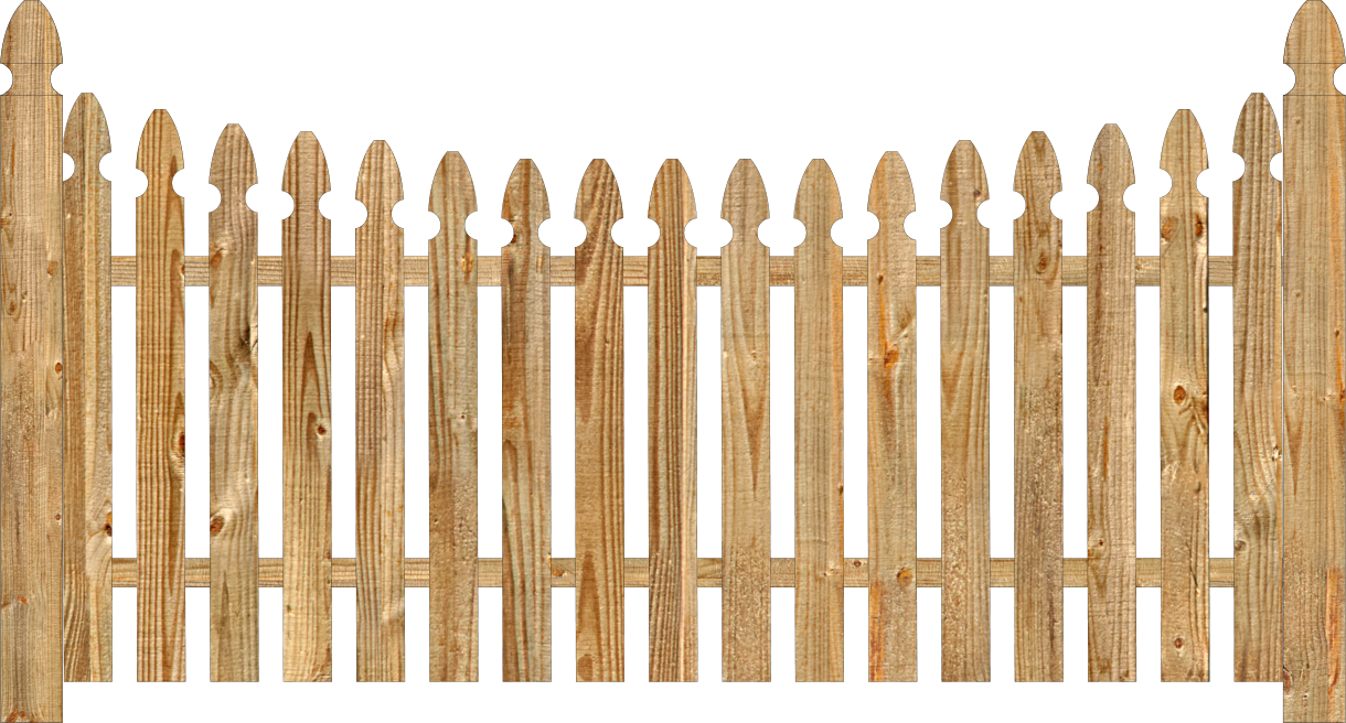 Spaced Picket Wood Fence on wire icon
