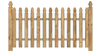 Spaced Picket Wood Fence - Cedar Straight Georgian W142 - image