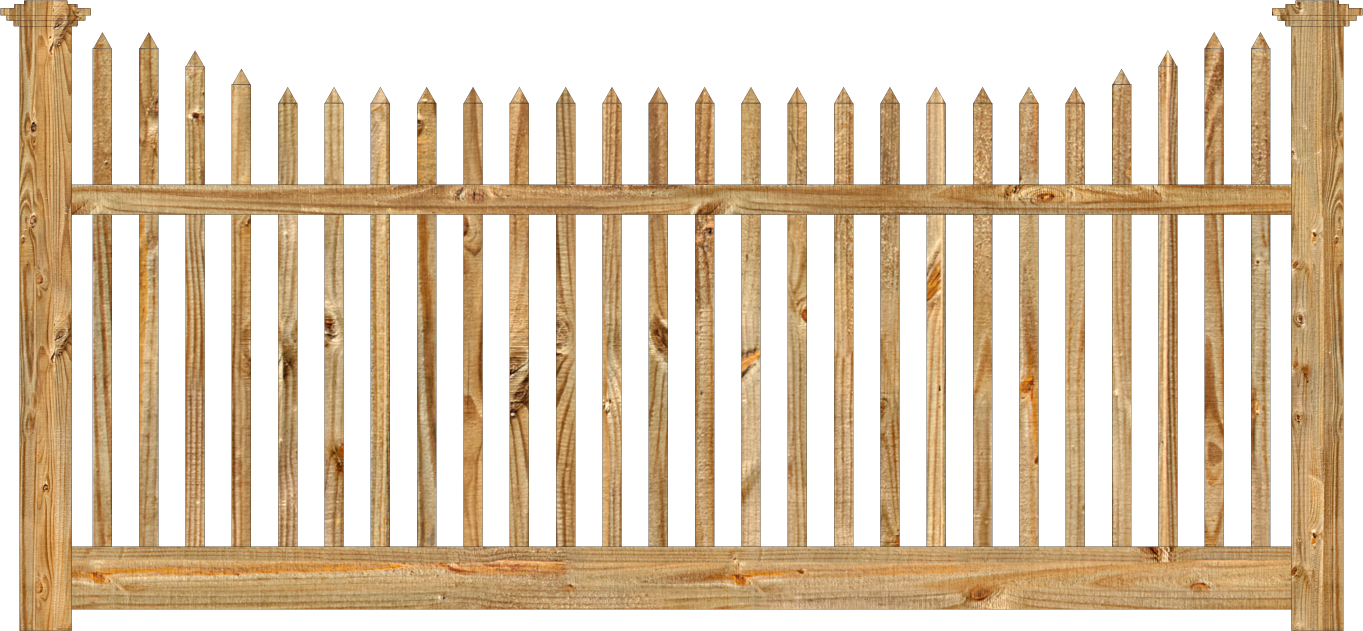 Spaced Picket Wood Fence | Dennisville Fence