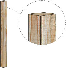 Plain Style Wood Fence Post